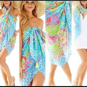 Lilly Pulitzer Sienna Wrap, Lovers Coral